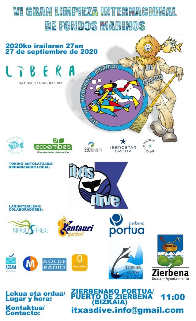 LIMPIEZA DE FONDOS MARINOS. DOMINGO, 27 DE SEPTIEMBRE. / ITSAS HONDOEN GARBIKETA. IGANDEA, IRAILEAREN 27A. Cartel11