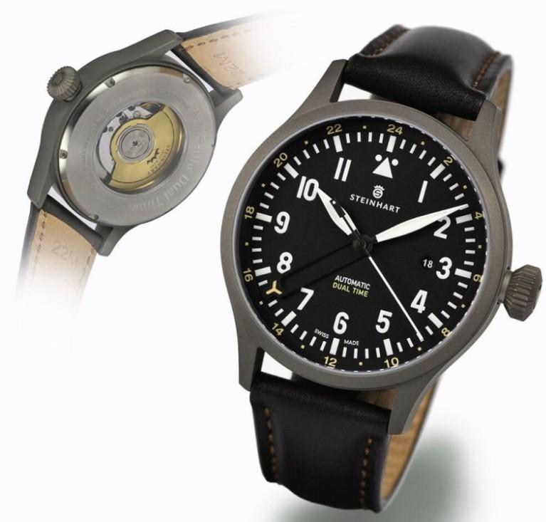 Nav.B-Uhr 44 Dual Time Titanium Sans_t25