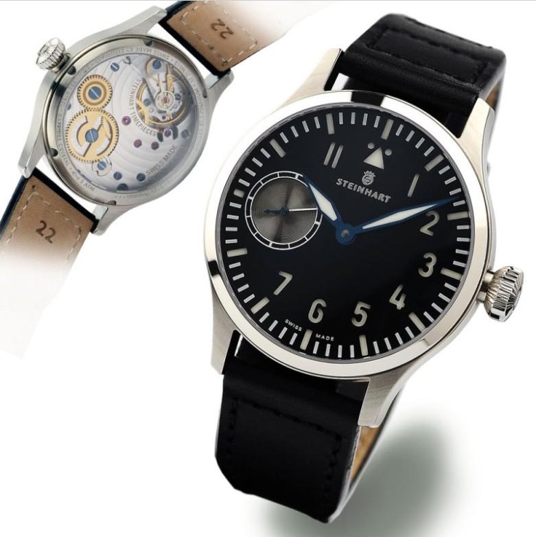 Nav B-Uhr 44 ST1 Premium SILVER Sans_t33
