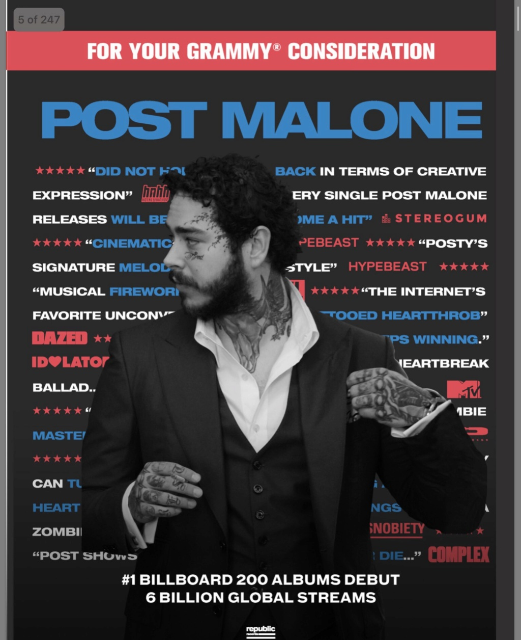 "Post Malone >> álbum ""Hollywood's Bleeding"" Efw2wp11"