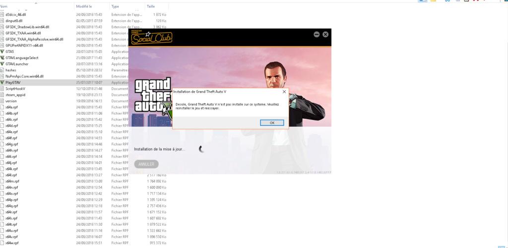 GTA V ne se lance plus. Captur13