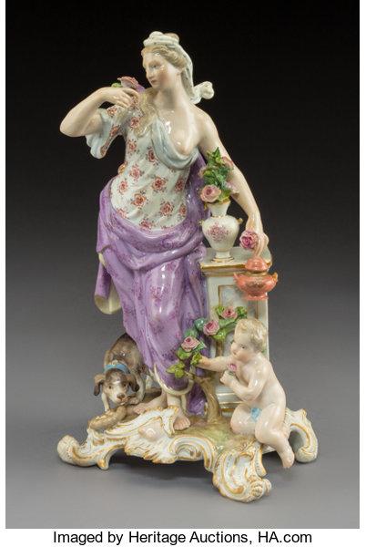 Paire de statuettes figurant les Muses Thalie Masque ? E/A Muller Allemagne? Vers 1900 ?  1110