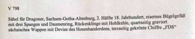 Sabre allemand, hollandais?? 1710