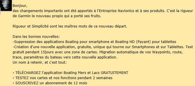 Wifi  iPad et navionics  Capnav10