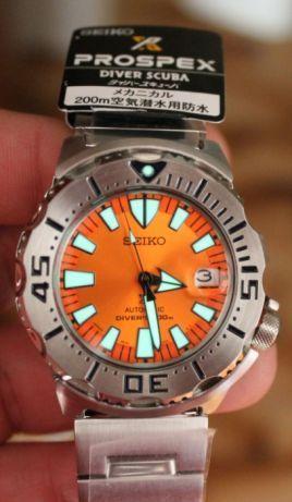 [Vendido] Seiko Monster SBDC075 laranja TERCEIRA GENERAÇÃO Temp140