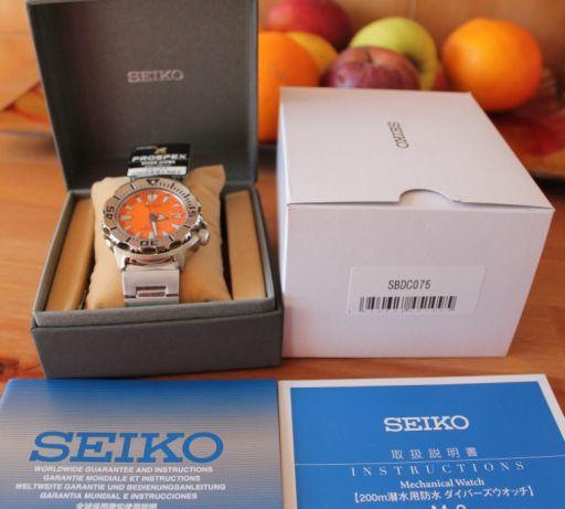 [Vendido] Seiko Monster SBDC075 laranja TERCEIRA GENERAÇÃO Temp628