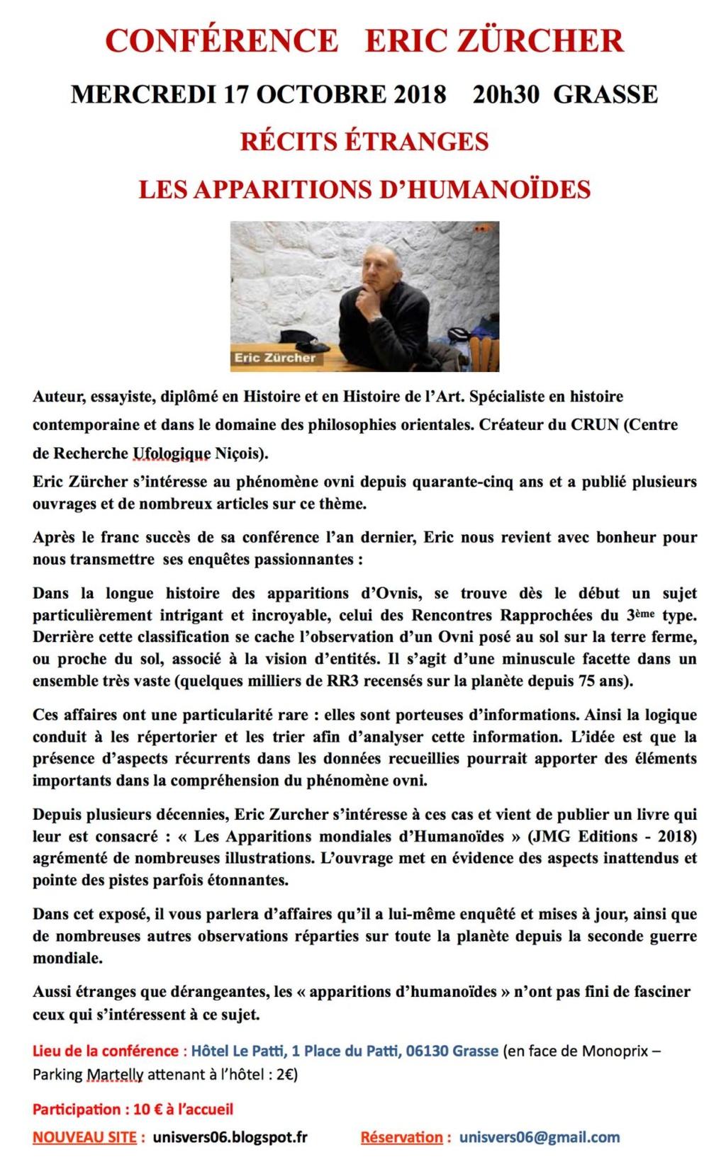 """(2018) """"Les Apparitions Mondiales d'Humanoïdes"""" d'Eric ZURCHER - Page 3 43431410"""