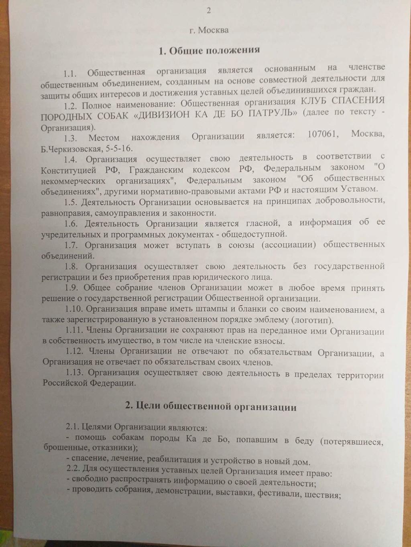 Учредительные документы общественной организации 210