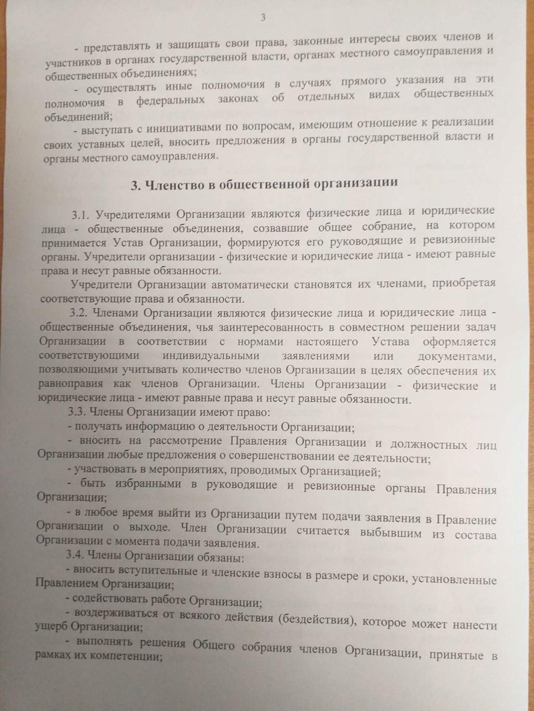 Учредительные документы общественной организации 310