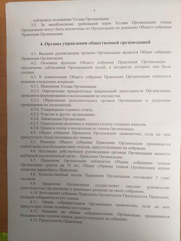 Учредительные документы общественной организации 410