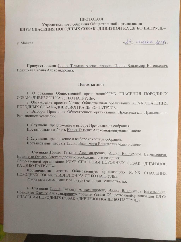 Учредительные документы общественной организации Aa_aa_10