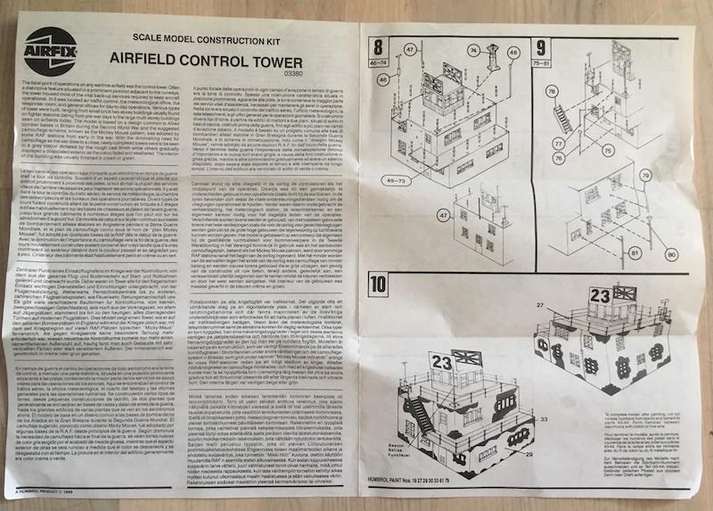 [AIRFIX] Tour de contrôle aérodrome RAF (échelle HO/OO - Ref. 03380) 2_noti12