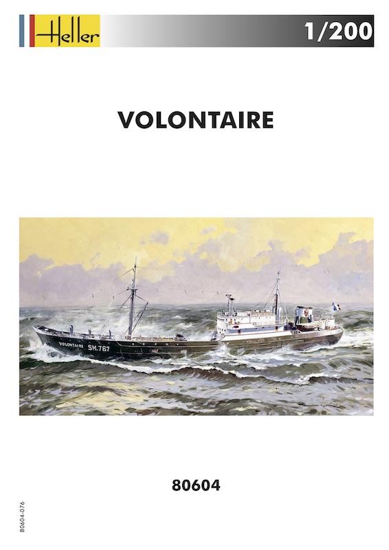 Chalutier Le Volontaire - 1/200° - Heller 80604 - Notice Heller45