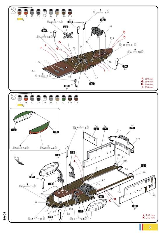 Chalutier Le Volontaire - 1/200° - Heller 80604 - Notice Heller50