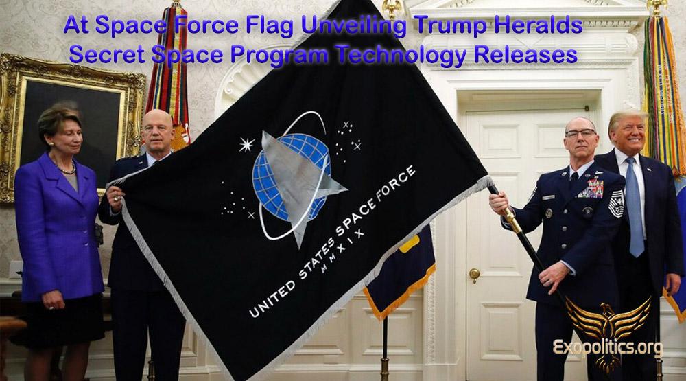 М. САЛЛА - На церемонии представления флага космических сил Трамп предвещает  высвобождение технологий тайной космической программы Space-10
