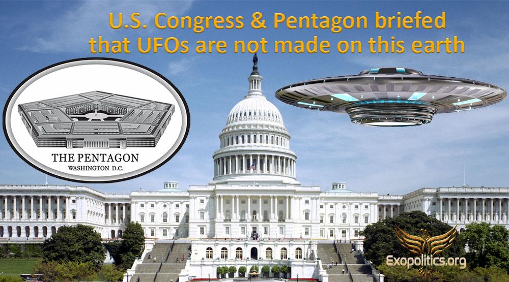 Майкл Салла - Конгресс США и Пентагон проинформировали, что корабли НЛО не были созданы на этой Земле Us-con10
