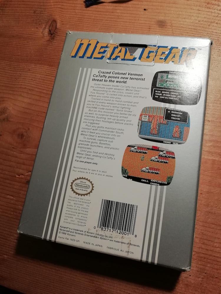 [Vds] Metal Gear NES complet, jeux DS et 3DS, Switch, Virtual boy Img_2081