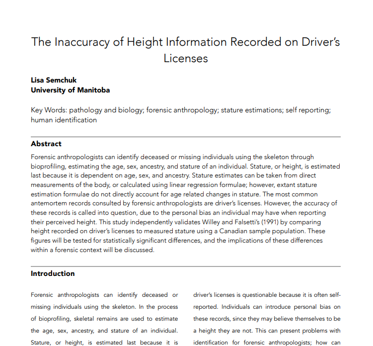Hay países que en la cédula / documento de identidad y carnet de conducir pone la estatura Medida10