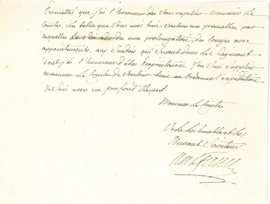 Ecrits du comte Hans Axel von Fersen Zfer11