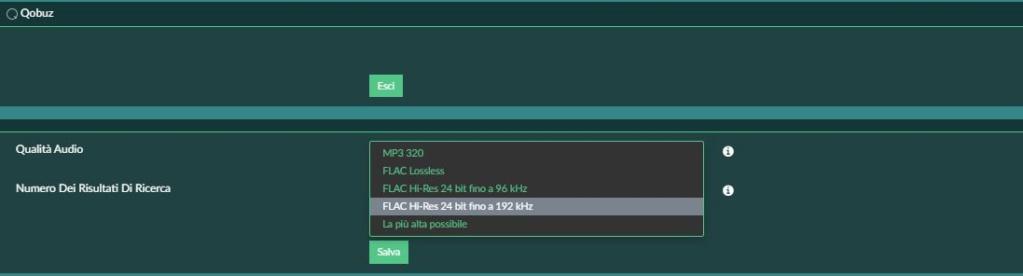volumio, myvolumio tidal e file hires Hr510