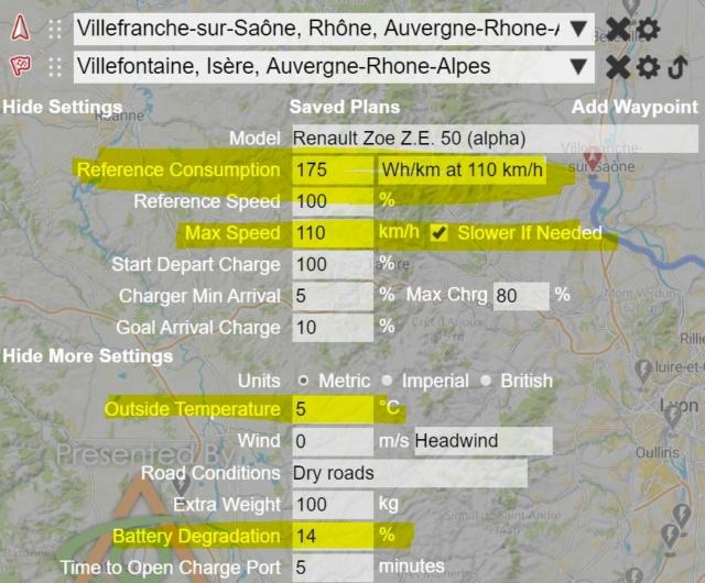 ZE50 : Estimation de la capacité utile de la batterie grâce à vos trajets ! - Page 4 Paramz11