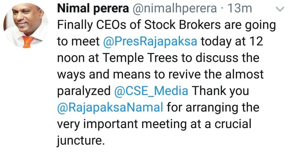 President to meet Stockbrokers  Screen68