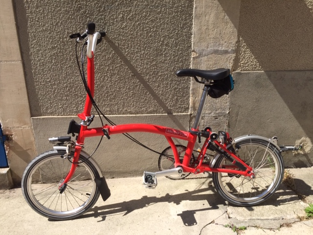 A VENDRE BROMPTON M3L ROUGE - N° série 1703060352 - 1000euros Img_6610