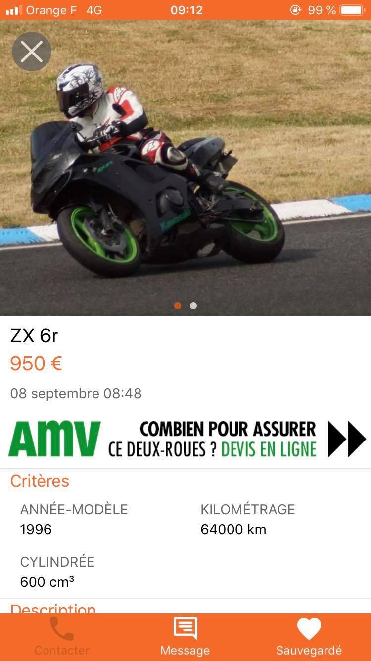 Prépa piste ZX6r de 96 85144710