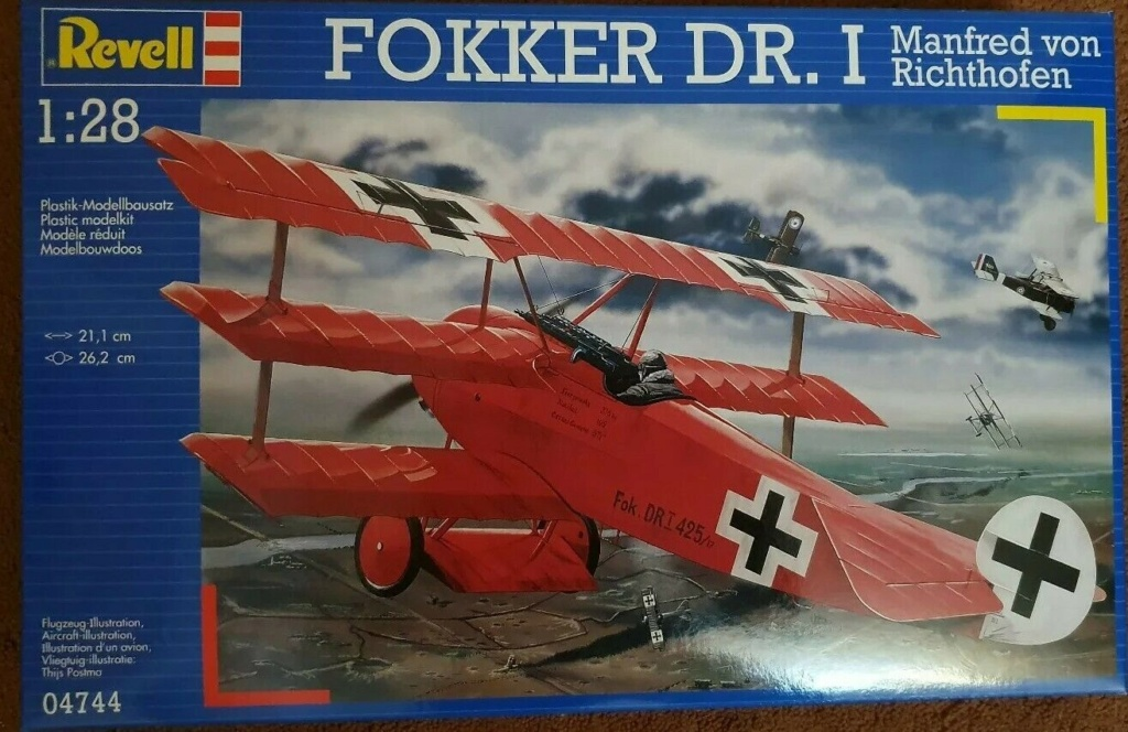 Revell Fokker DR.I Manfred Von Richtofen 1/28 S-l16010