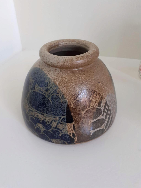 Very pretty glazed pot, any idea on maker? 20210712
