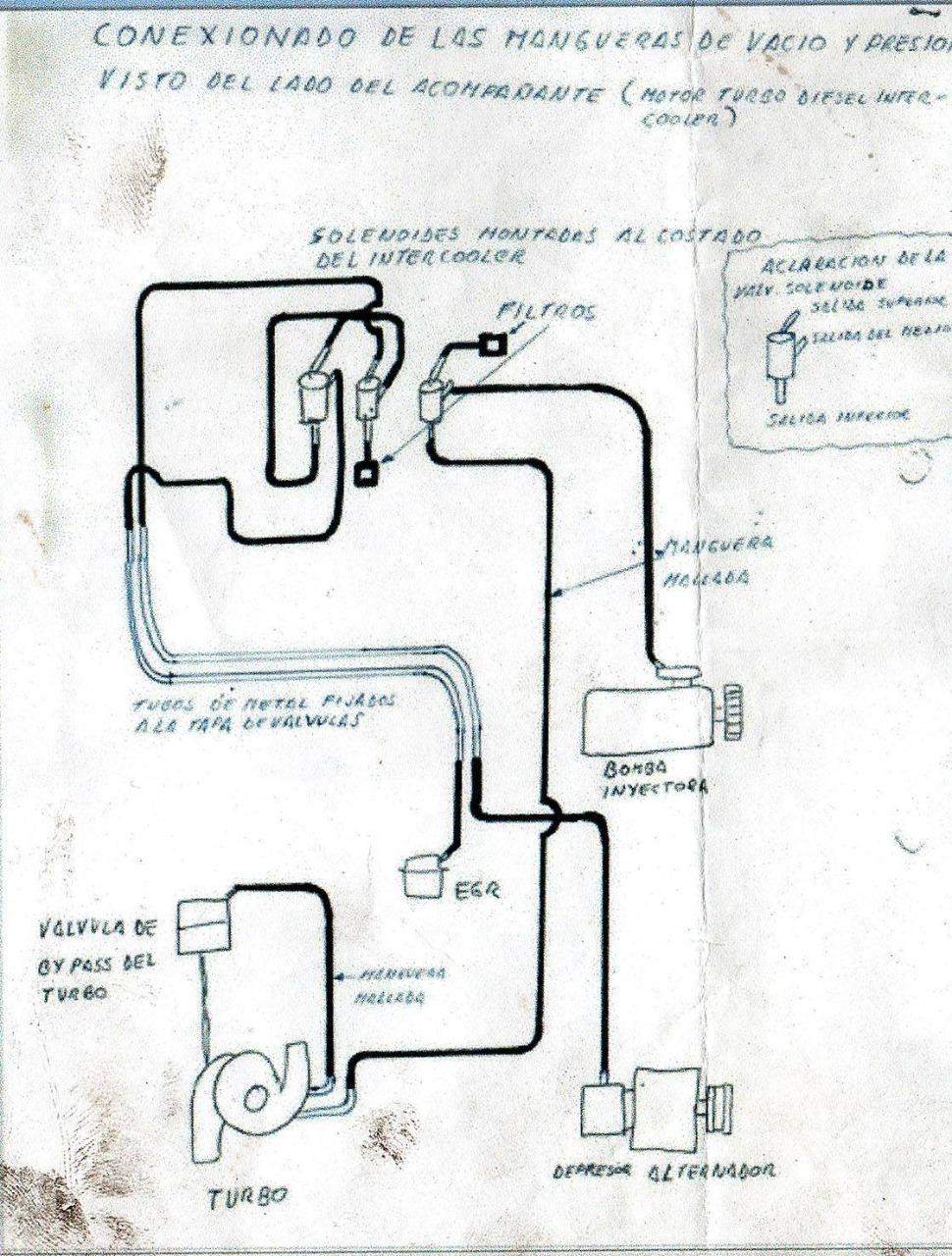 conexion mangueras de vacio motor d4bf Esquem11