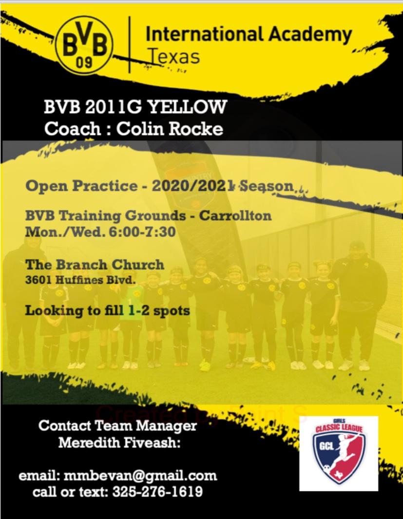 BVB 11G Open Practices (Carrollton)  2828911
