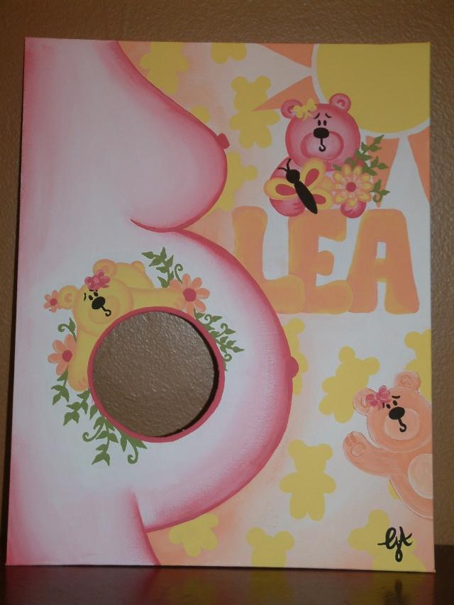 Toile acrylique pour chambre enfant et photo echographie!.. Toile_39