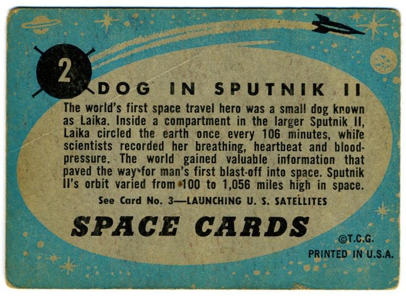SPACE TRADING CARDS de TOPPS Topp-011