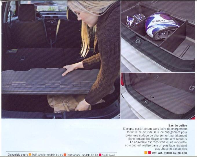 catalogue pdf accessoires suzuki swift page 5. Black Bedroom Furniture Sets. Home Design Ideas