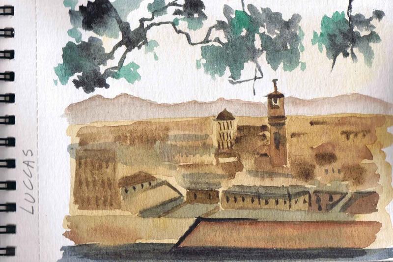Vacances en Italie, Toscane, Latium Ccf23010