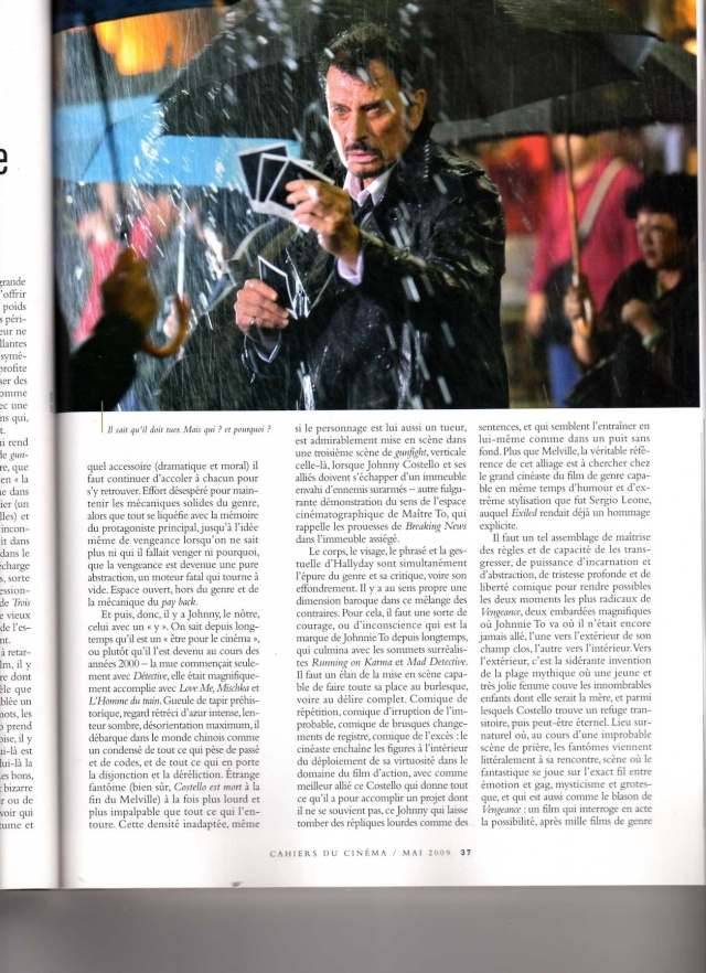 Johnny en couverture des Cahiers du Cinéma Img21410