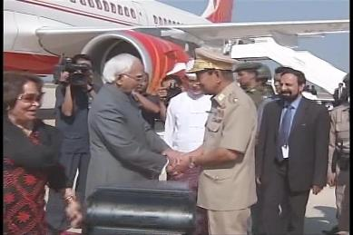 Vice-President of India visited Myanmar in February 2009 210