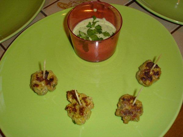 Boulette d'Agneau -gaspacho courgette cocombre Dsc01410