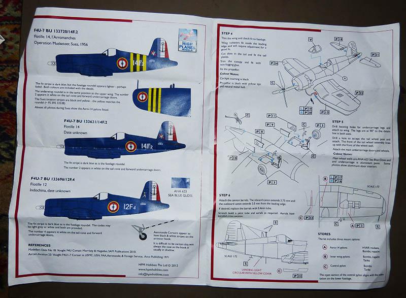 """F4U-7 Corsair de la """"Royale"""" - High Planes Models - 1/72. Corsai22"""