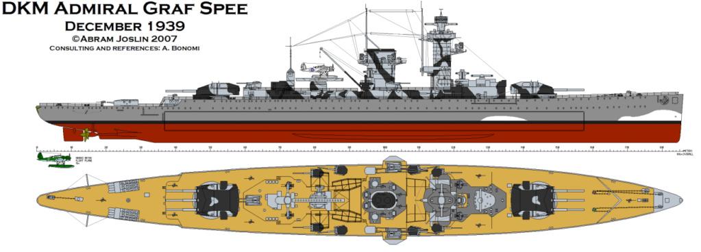 """Fil rouge 2020 : (Heller) Croiseur lourd """"Graf Spee"""" - 1/400. Dbfsd10"""