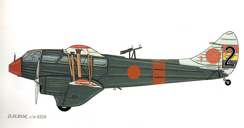 """Dragon Rapide DH 89 M Républicain Espagnol """" - Escadrille """"Alas Rojas"""" 1936. Dh89_020"""