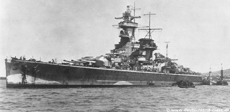 "Fil rouge 2020 : (Heller) Croiseur lourd ""Graf Spee"" - 1/400. Gallgr10"