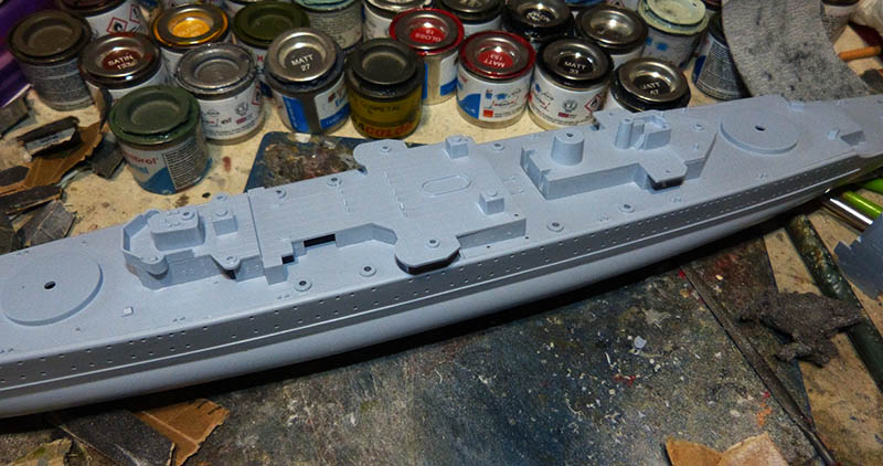 "Fil rouge 2020 : (Heller) Croiseur lourd ""Graf Spee"" - 1/400. Grafsp30"