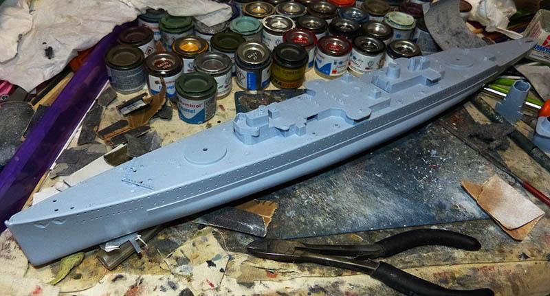 "Fil rouge 2020 : (Heller) Croiseur lourd ""Graf Spee"" - 1/400. Grafsp31"
