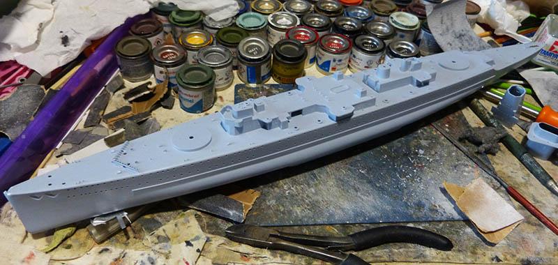 "Fil rouge 2020 : (Heller) Croiseur lourd ""Graf Spee"" - 1/400. Grafsp32"