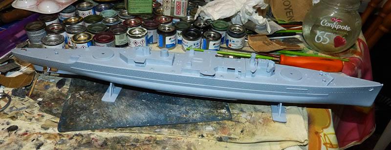 "Fil rouge 2020 : (Heller) Croiseur lourd ""Graf Spee"" - 1/400. Grafsp35"