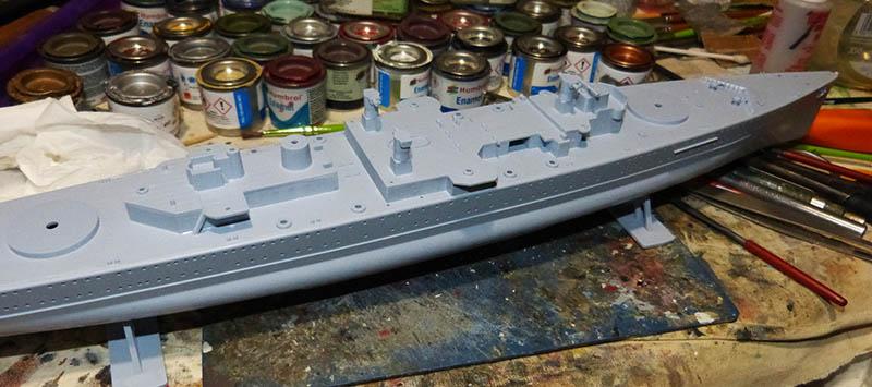 "Fil rouge 2020 : (Heller) Croiseur lourd ""Graf Spee"" - 1/400. Grafsp36"