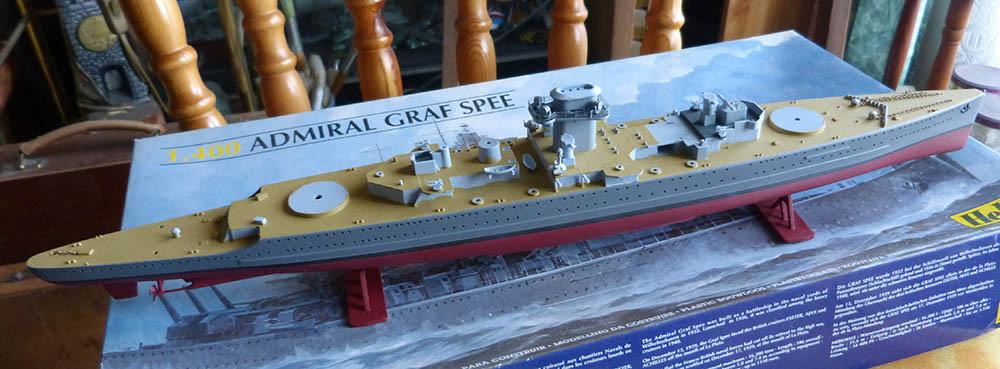 Croiseur lourd ADMIRAL GRAF SPEE Rio de La Plata 1939... Réf 81046 Grafsp73