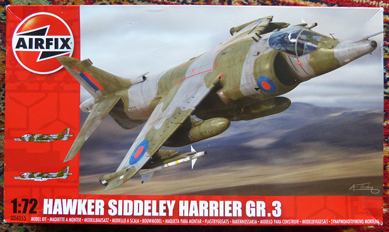 From the box - Harrier GR3 aux Malouines - Airfix - 1/72. Harrie10